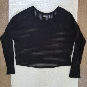 Zella Sheer Crop Longsleeve